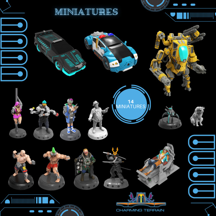 Cyberglow City Cyberpunk Miniatures's Cover