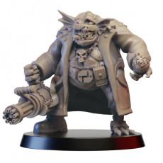 cyberpunk troll with minigun