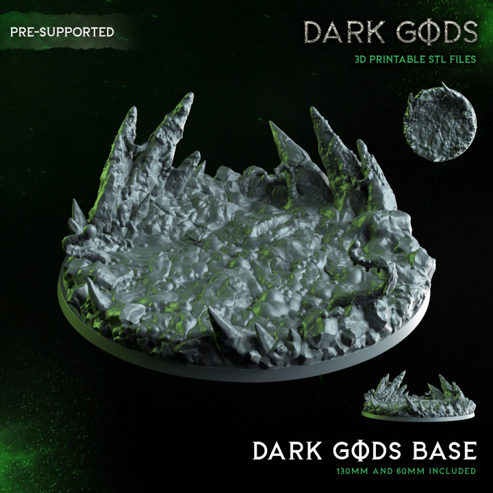Demon Plague Base - Dark Gods - 130mm AND 60mm round acid base - Pre Supported's Cover