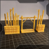 "Bamboo terrain for tabletop games - Part III of III - ""light wall"" image"