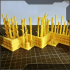 """Bamboo terrain for tabletop games - Part III of III - """"light wall"""" image"""