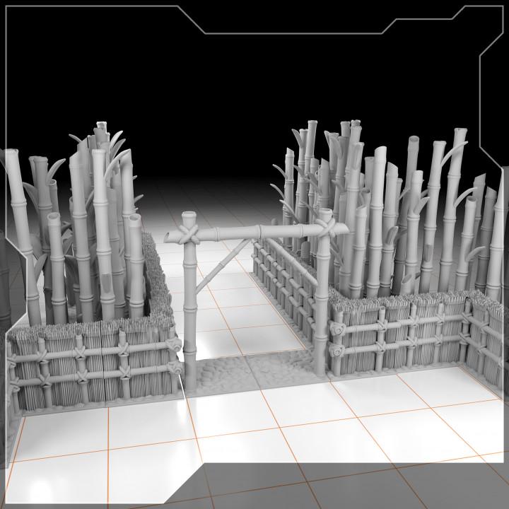 "Bamboo terrain for tabletop games - Part III of III - ""light wall"""