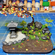Picture of print of Japanese style lamps for Tabletop / Bord Games or decoration with cutouts for LEDs