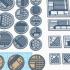 Mini Bases - Sci Fi Industrial 1 - Round/Square image