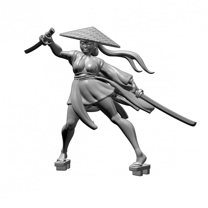 Samurai Girl- Professionally pre-supported!