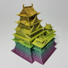 Picture of print of Himeji Castle - Japan