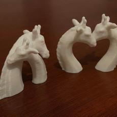 Picture of print of A Giraffe figurine- send a hug/kiss in COVID-19