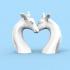 A Giraffe figurine- send a hug/kiss in COVID-19 image