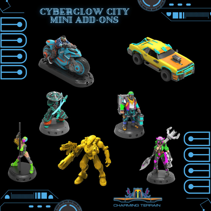Cyberglow City Cyberpunk Add-On Miniatures's Cover