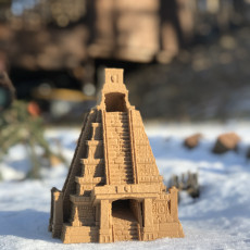 Picture of print of Mayan Temple Dice Tower