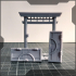 japanese wooden fence set image