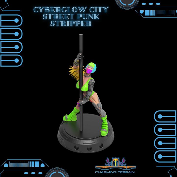 Cyberglow City Cyberpunk Street Punk Stripper