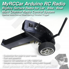 MyRCCar Arduino Surface Radio for RC Car / Bike / Boat.  BigBoy  Multi Channel Radio Control System, including Transmitter and Receiver