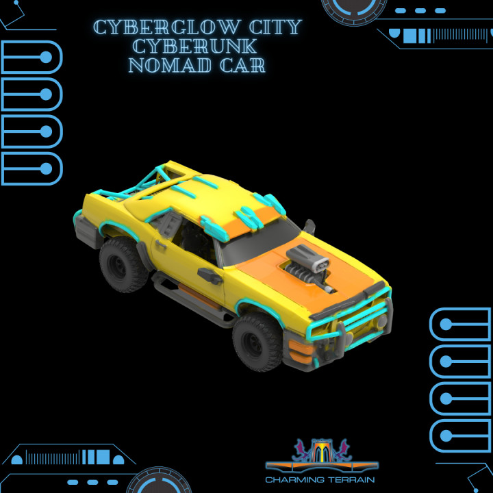 Cyberglow City Cyberpunk Nomad Car