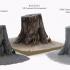 3D Scanned Tree Stump for Tabletop Scatter Terrain image