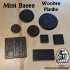 Mini Bases - Wooden Planks - Square and Round many sizes image