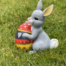 Picture of print of Easter bunny