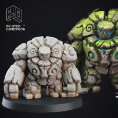 Stone Golem - Construct - PRESUPPORTED - D&D 32mm