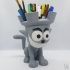 Castle Cat pencil holder image