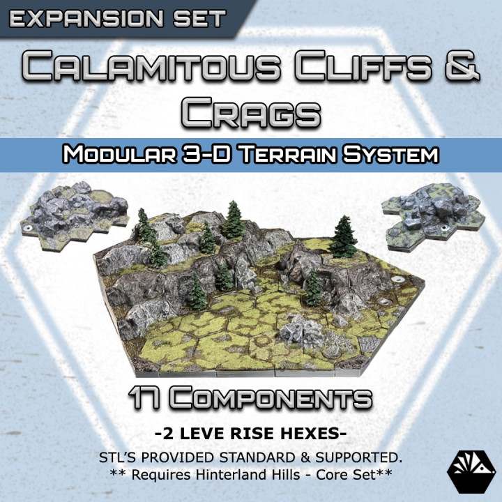 HexhogTabletops: Calamitous Crags and Cliffs - Expansion Set -'s Cover
