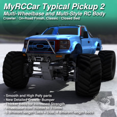 MyRCCar Typical Pickup 2. 1/10 Multi-Wheelbase and Multi-Style RC Truck Body
