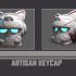 Helmet Smile - Custom Mechanical Keyboard - Artisan Keycap image