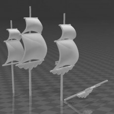 Ships with 1/1200 sculpts