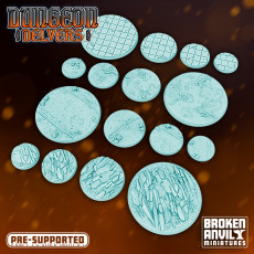 Dungeon Delvers Sculpted Base Pack