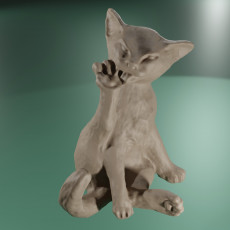 Chat Sphinx + low poly