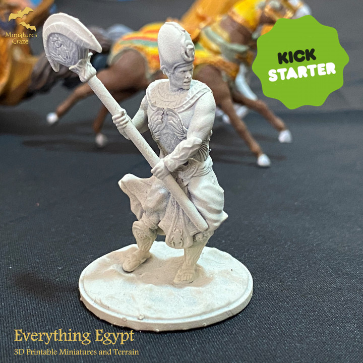 """Egyptian King - Free Mini from """"Everything Egypt"""" Kickstarter Campaign's Cover"""