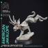 Jackalope - Cryptid - PRESUPPORTED - 32mm Scale image