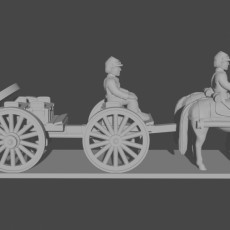 10 & 15mm American Civil War Artillery Train (with Limber, Caisson, Wagon and Riders)