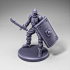 Skeleton - Infantry - Falchion + Scutum Shield - Ready Pose image