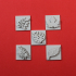 LEAF EMBOSSERS POLYMER STAMPS FOR CLAY & HOBBIES image