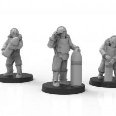 Lunar Auxilia Artillery Crew - Presupported