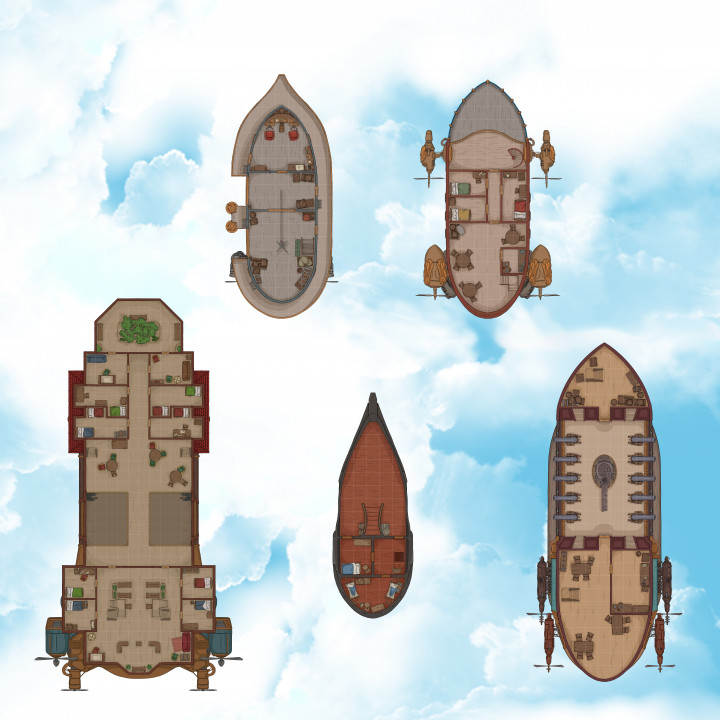 Airship Maps - Airship Campaigns Core High-Resolution Maps's Cover