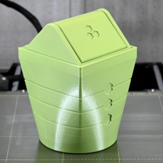Picture of print of Swingtop Bin - Print-in-place Trash Can!