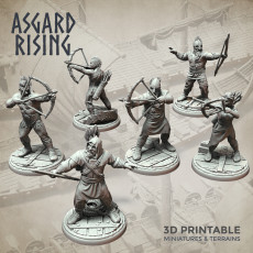 Viking Archers Ax Thrower Modular Warband Presupported