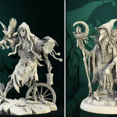 Haunted Scarecrow and Kenku Druid 32mm pre-supported