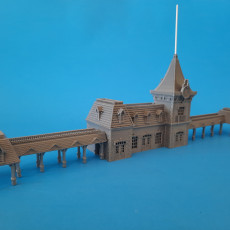 N-Scale Disney Style Train Station