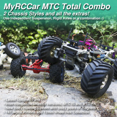 MyRCCar MTC Chassis Total Combo. Rigid Axles, Independent Suspension and many extras