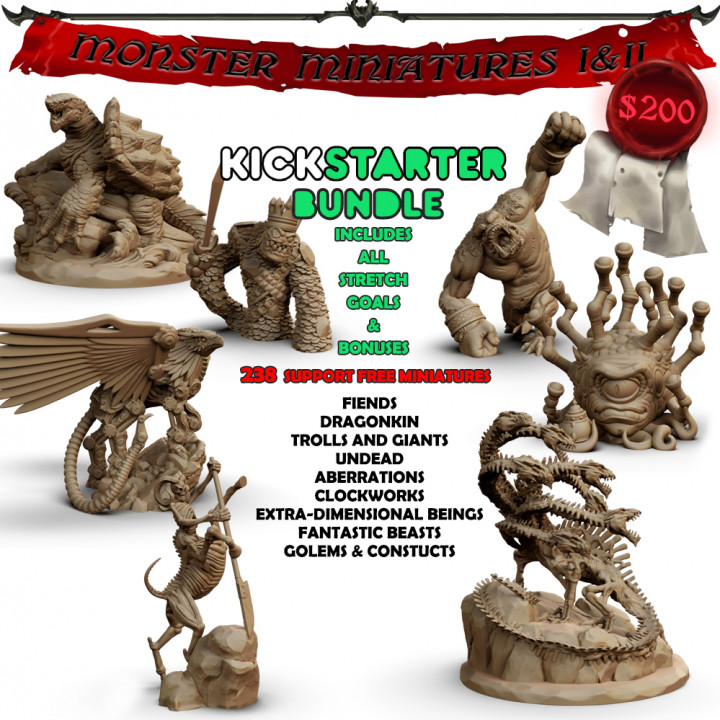 Monster Miniatures I & II Bundle's Cover