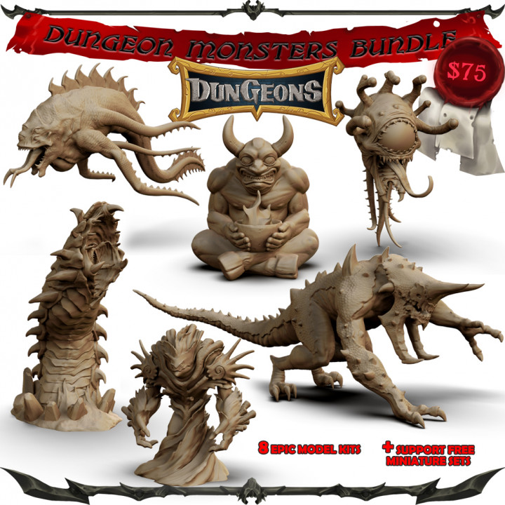 Dungeons Monsters Bundle's Cover