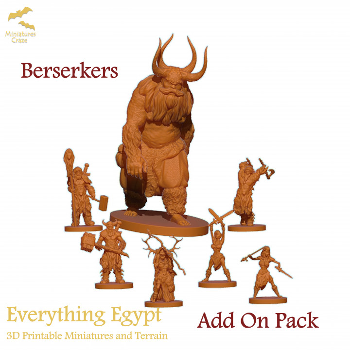 Barbarians/Berserkers Pack's Cover