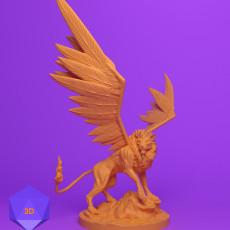 230x230 mini 3d files josh clithero stl 3d prints printer dnd dungeons and dragons miniature fighter paladin rogue cleric barbarian wizard warrior sorcerer warlock bard monk npc character lion celestial