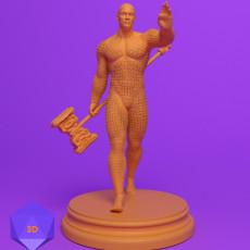 230x230 mini 3d files josh clithero stl 3d prints printer dnd dungeons and dragons miniature fighter paladin rogue cleric barbarian wizard warrior sorcerer warlock bard monk npc character 1