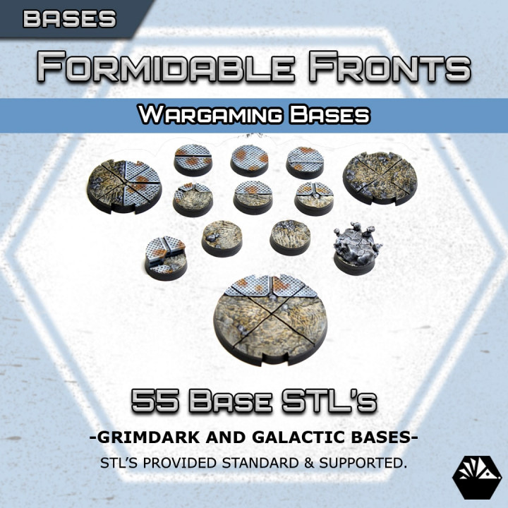 Hexhog Tabletops: Grimdark and Galactic Bases's Cover