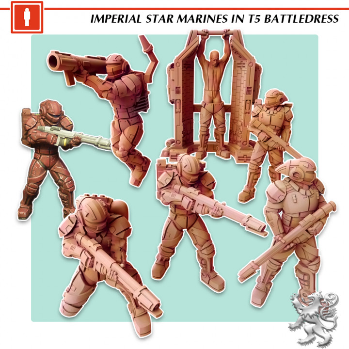 Imperial Star Marines in TL 15 Battledress's Cover