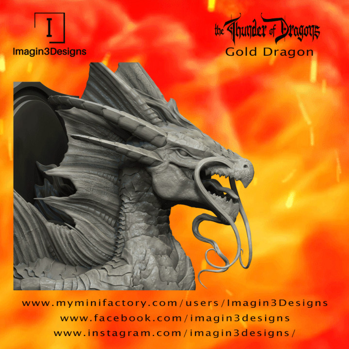 Voshaz'imagog -Bringer of the Golden Dawn- The Gold Dragon's Cover