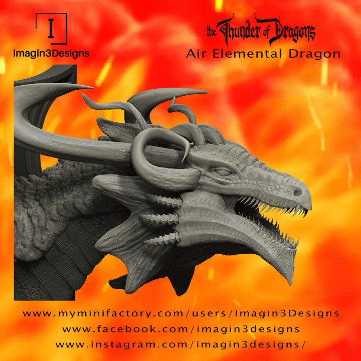 Huth'ratix -The Voice of Discord- The Air Elemental Dragon's Cover